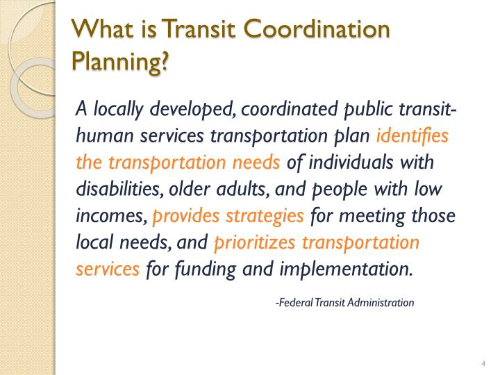 What is Transit Coordination Planning?