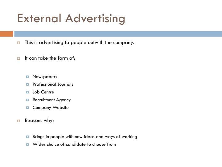 External Advertising