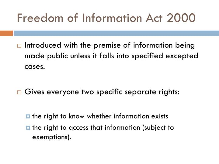 Freedom of Information Act 2000