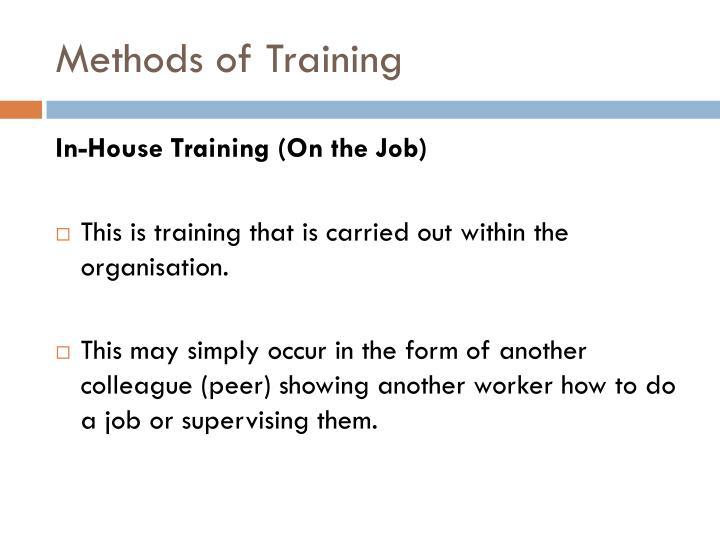 Methods of Training