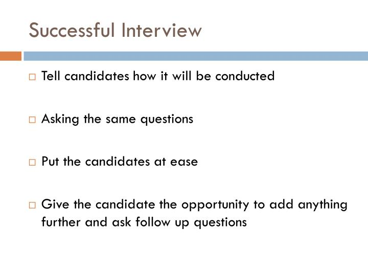 Successful Interview