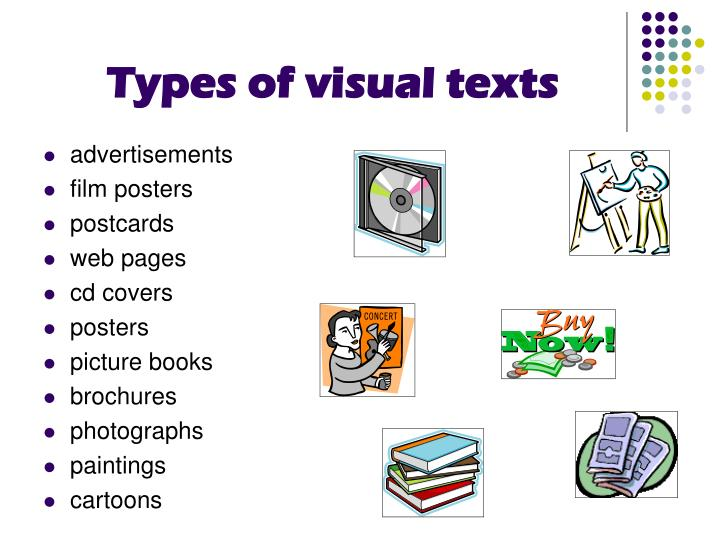 Types of visual texts