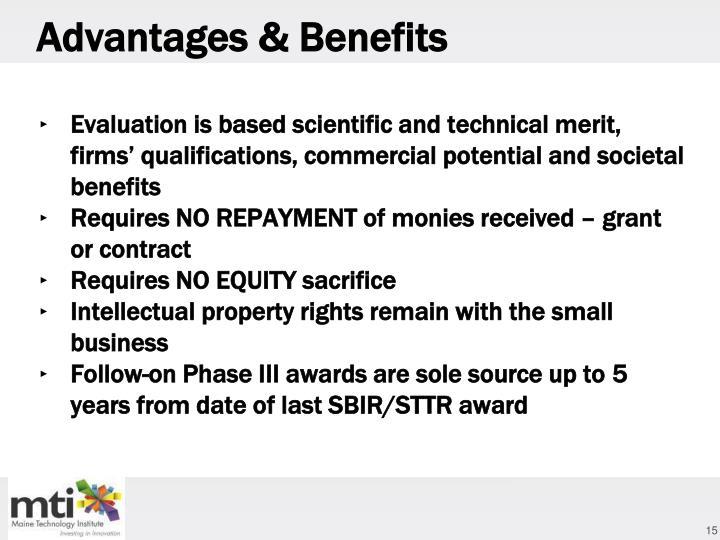 Advantages & Benefits
