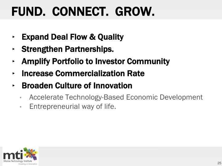 FUND.  CONNECT.  GROW.