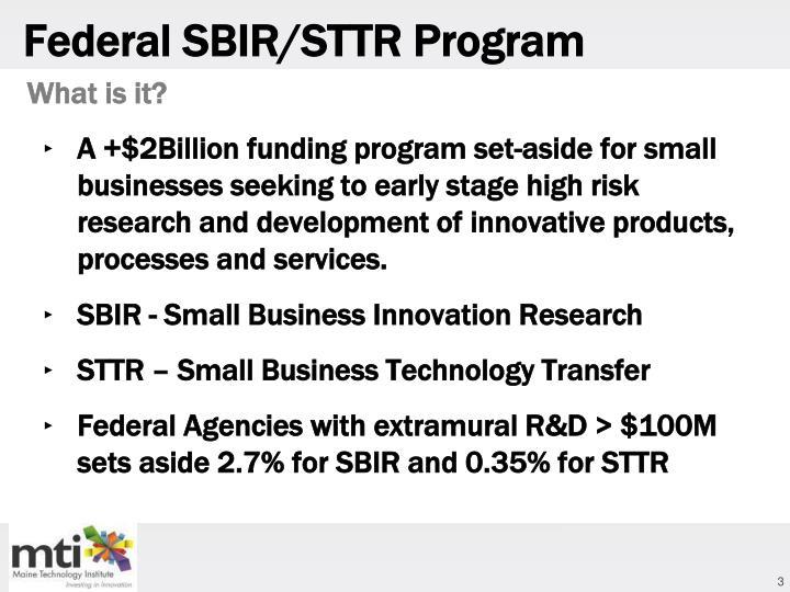 Federal SBIR/STTR Program
