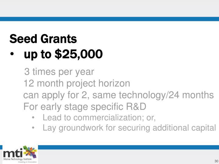 Seed Grants