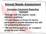 annual needs assessment30