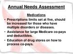 annual needs assessment31