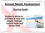 annual needs assessment33