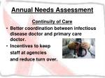 annual needs assessment34