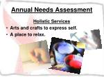 annual needs assessment36