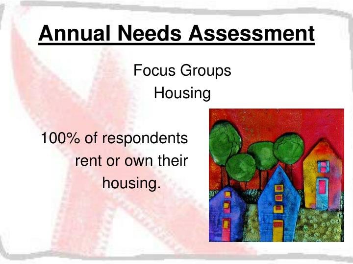 Annual Needs Assessment