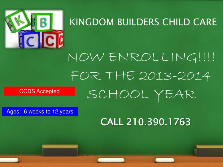 KINGDOM BUILDERS CHILD CARE