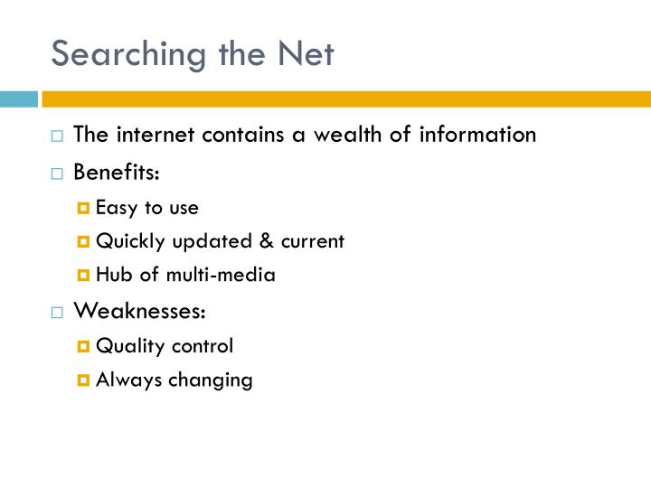 Searching the Net
