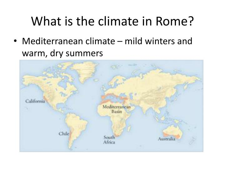 What is the climate in Rome