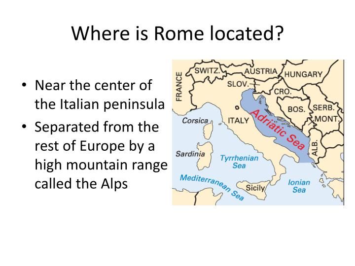 Where is rome located