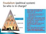 feudalism political system so who is in charge