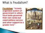 what is feudalism