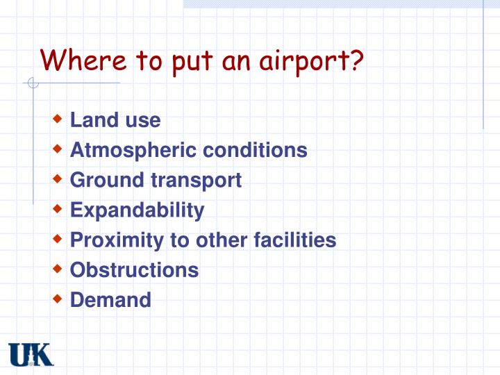 Where to put an airport?