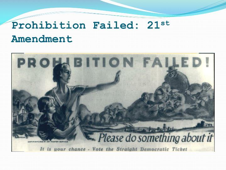 Prohibition Failed: 21
