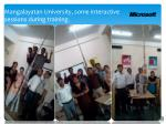 mangalayatan university some interactive sessions during training
