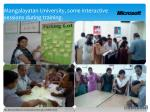 mangalayatan university some interactive sessions during training1