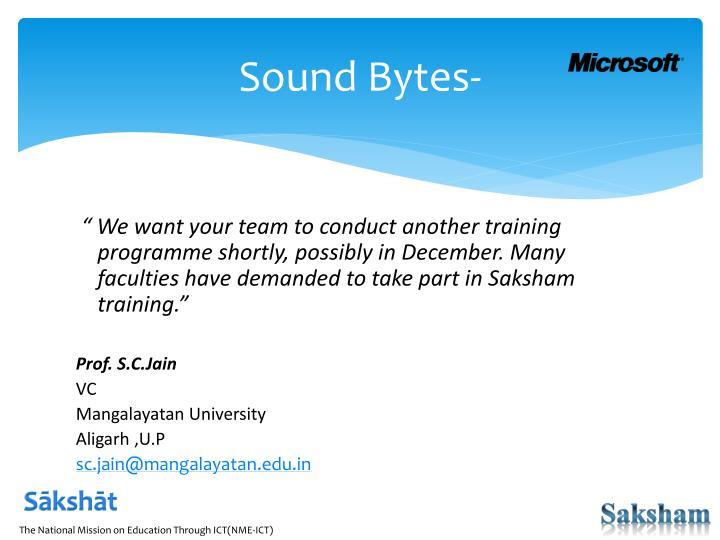 Sound Bytes-