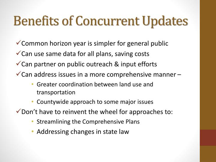 Benefits of concurrent updates