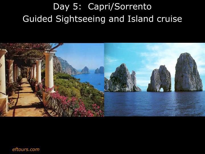 Day 5:  Capri/Sorrento