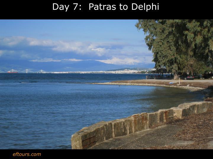Day 7:  Patras to Delphi