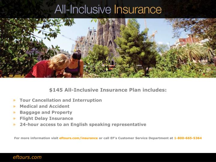 $145 All-Inclusive Insurance Plan includes: