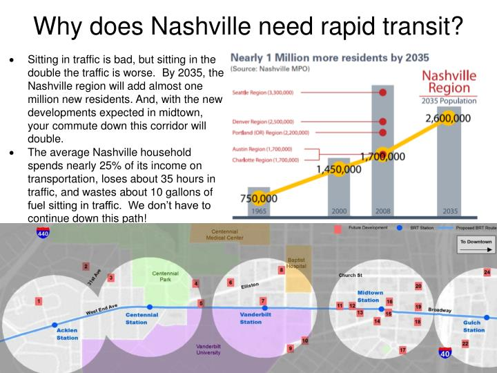 Why does Nashville need rapid transit