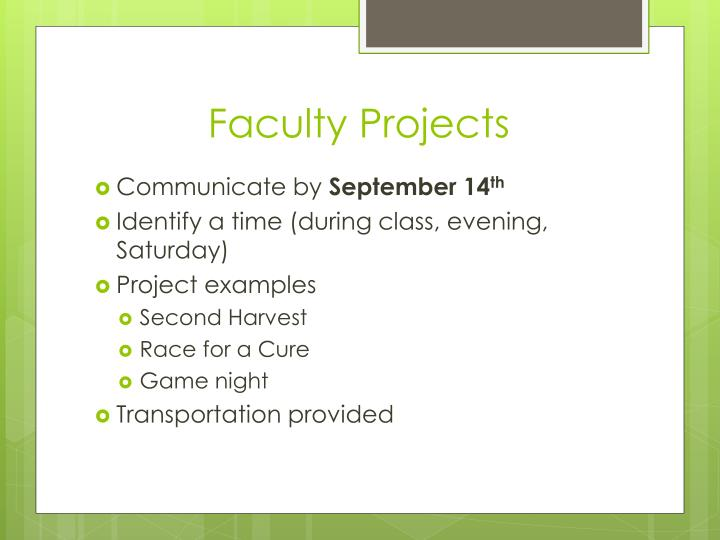 Faculty Projects