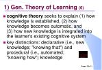 1 gen theory of learning 6