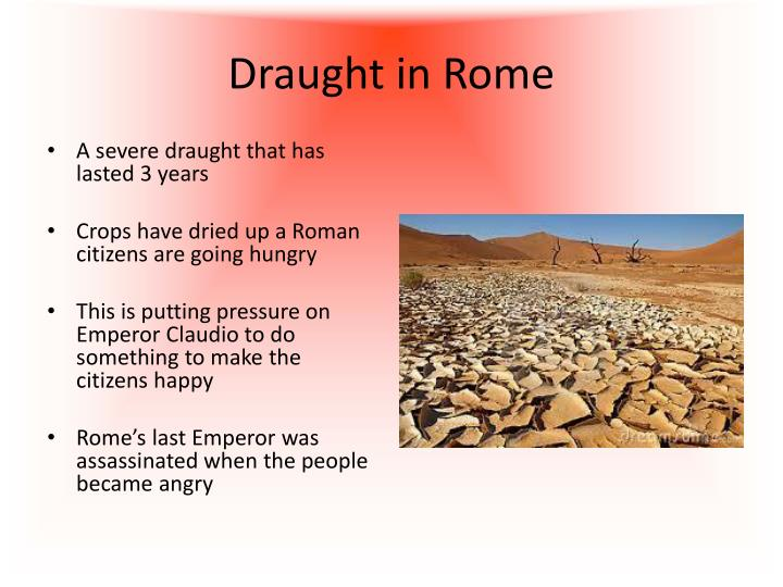 Draught in Rome