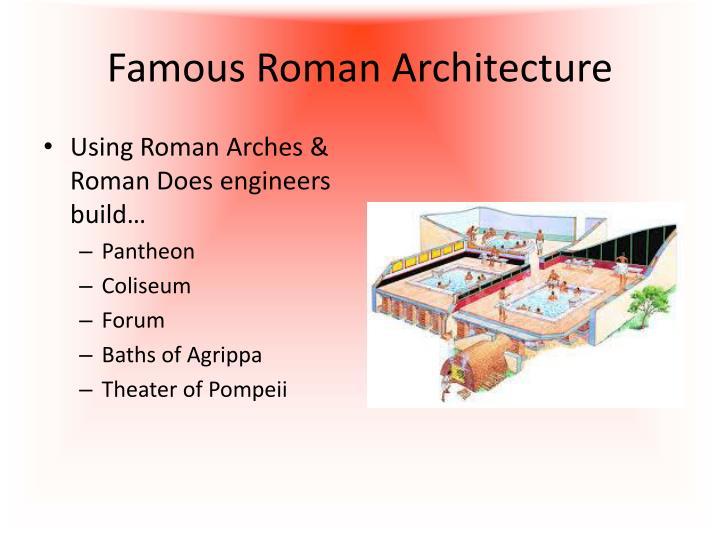 Famous Roman Architecture
