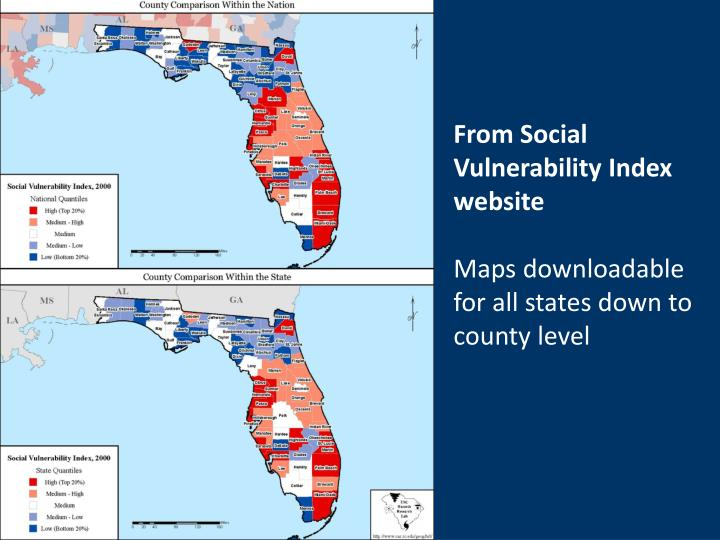 From Social Vulnerability Index website