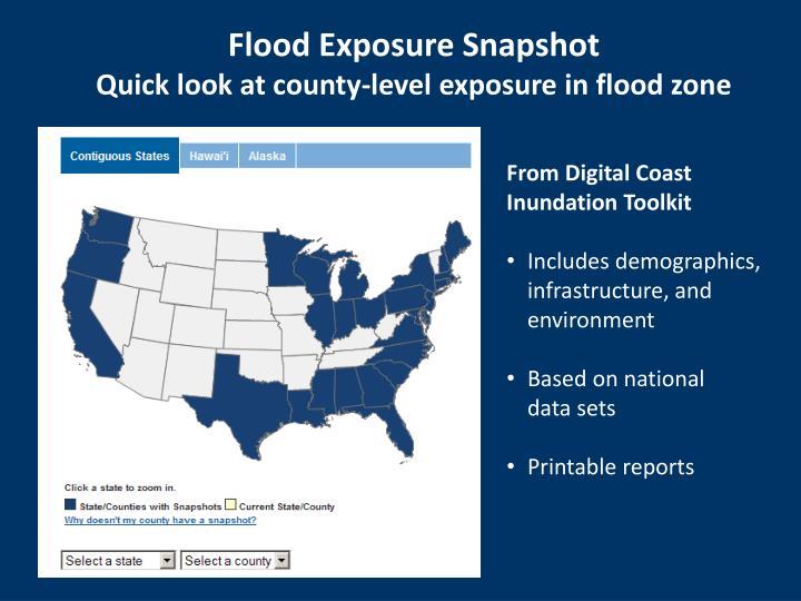 Flood Exposure Snapshot