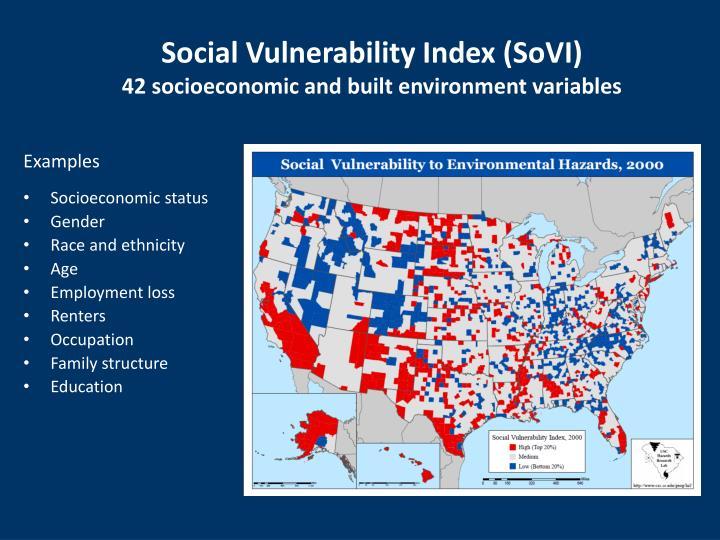 Social Vulnerability Index (SoVI)