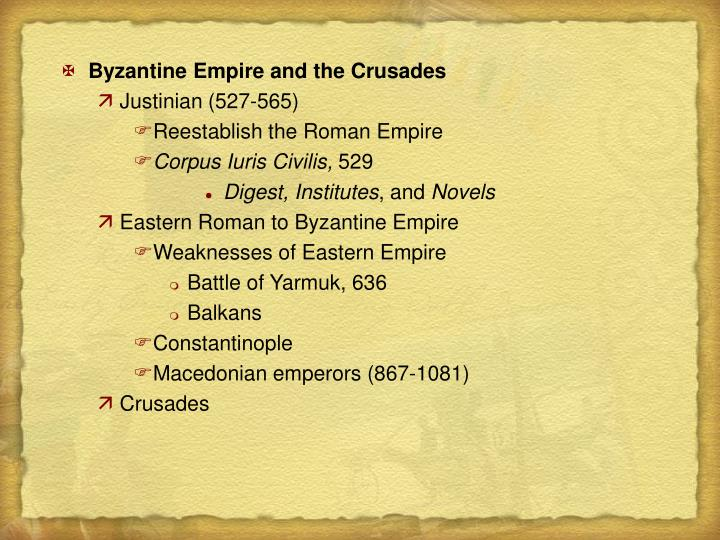 Byzantine Empire and the Crusades