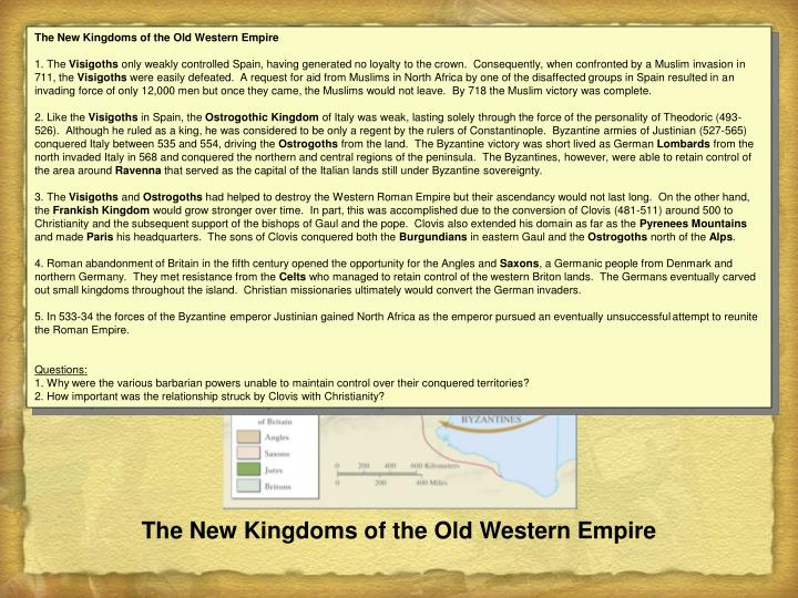 The New Kingdoms of the Old Western Empire