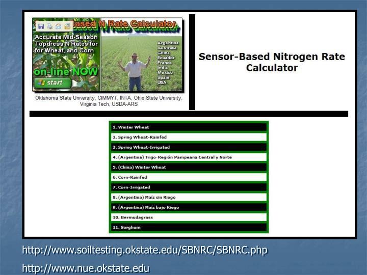 http://www.soiltesting.okstate.edu/SBNRC/SBNRC.php