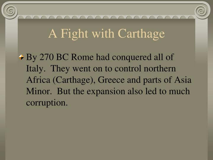 A Fight with Carthage