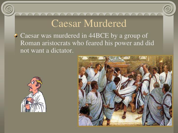 Caesar Murdered