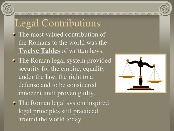 Legal Contributions