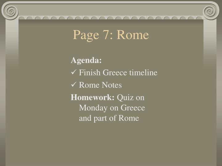 Page 7: Rome