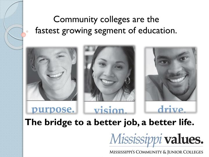 Community colleges are the