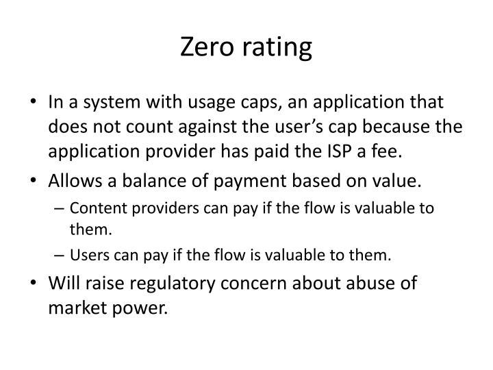 Zero rating