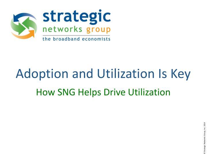 Adoption and Utilization Is Key