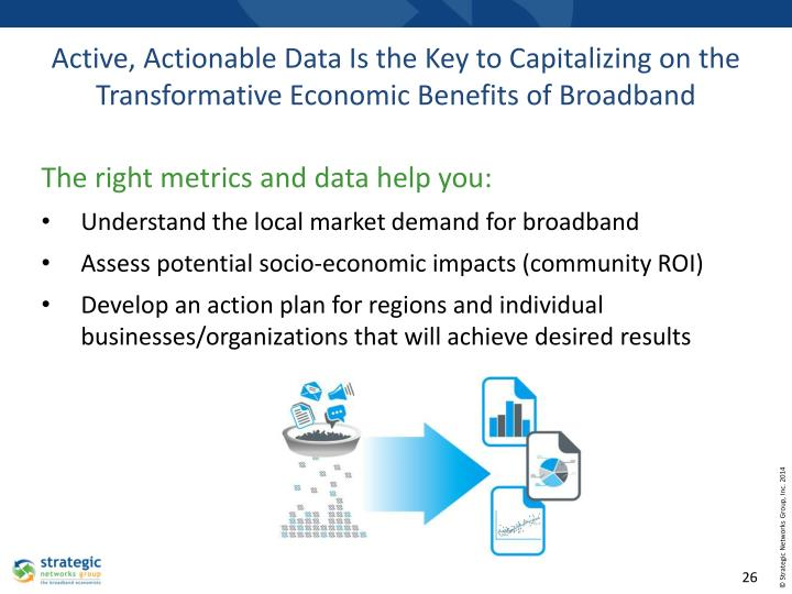 Active, Actionable Data Is the Key to Capitalizing on the Transformative Economic Benefits of Broadband